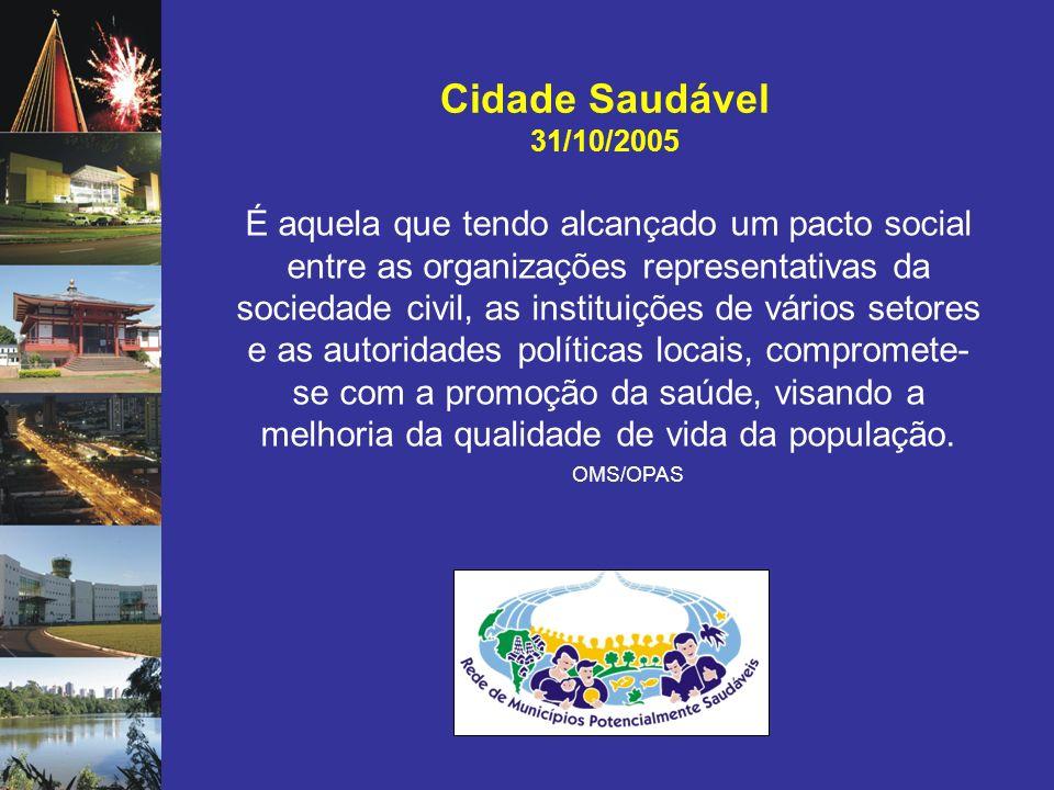 Cidade Saudável 31/10/2005