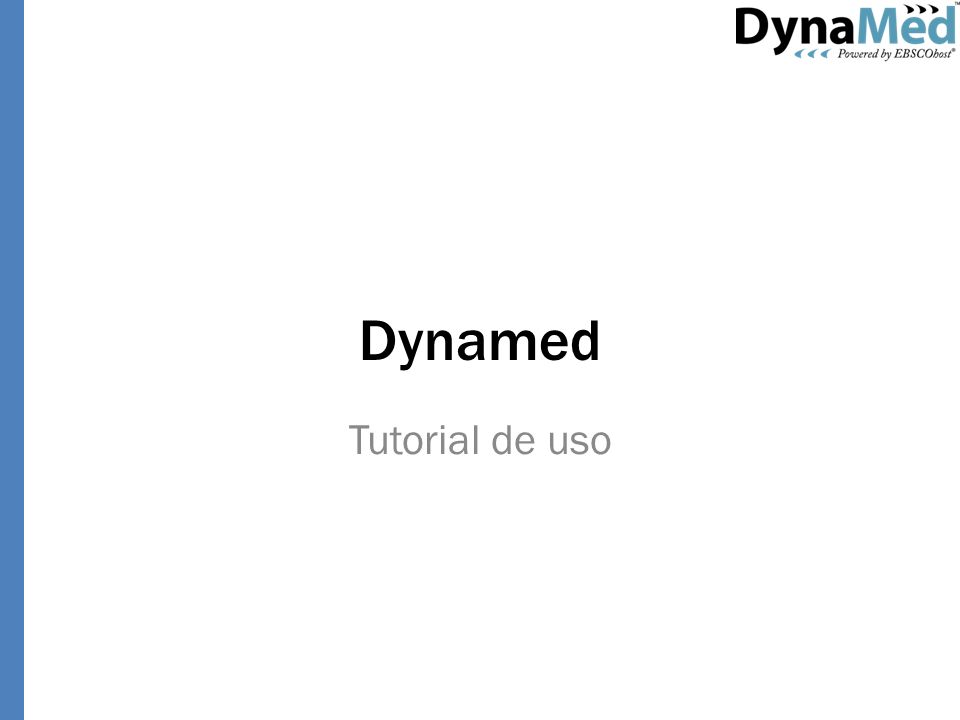 Dynamed Tutorial de uso