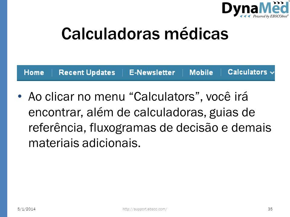 Calculadoras médicas