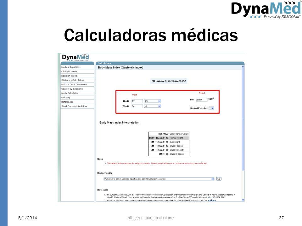 Calculadoras médicas 24/03/2017 http://support.ebsco.com/