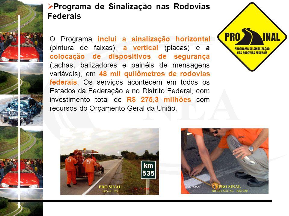 Programa de Sinalização nas Rodovias Federais