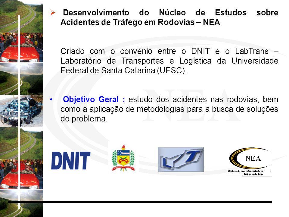 Desenvolvimento do Núcleo de Estudos sobre Acidentes de Tráfego em Rodovias – NEA