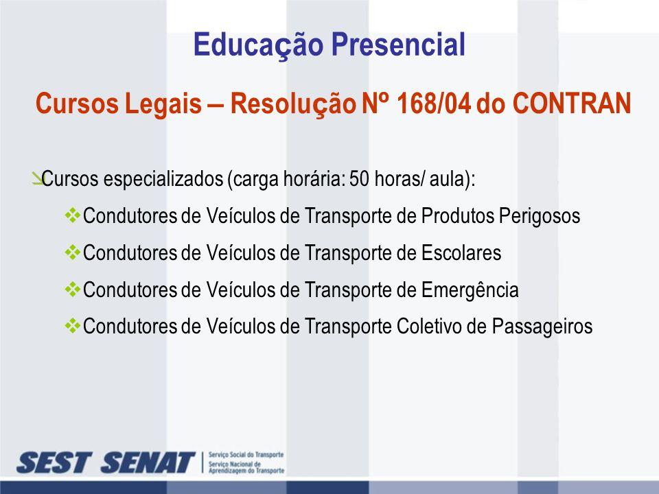 Cursos Legais – Resolução Nº 168/04 do CONTRAN