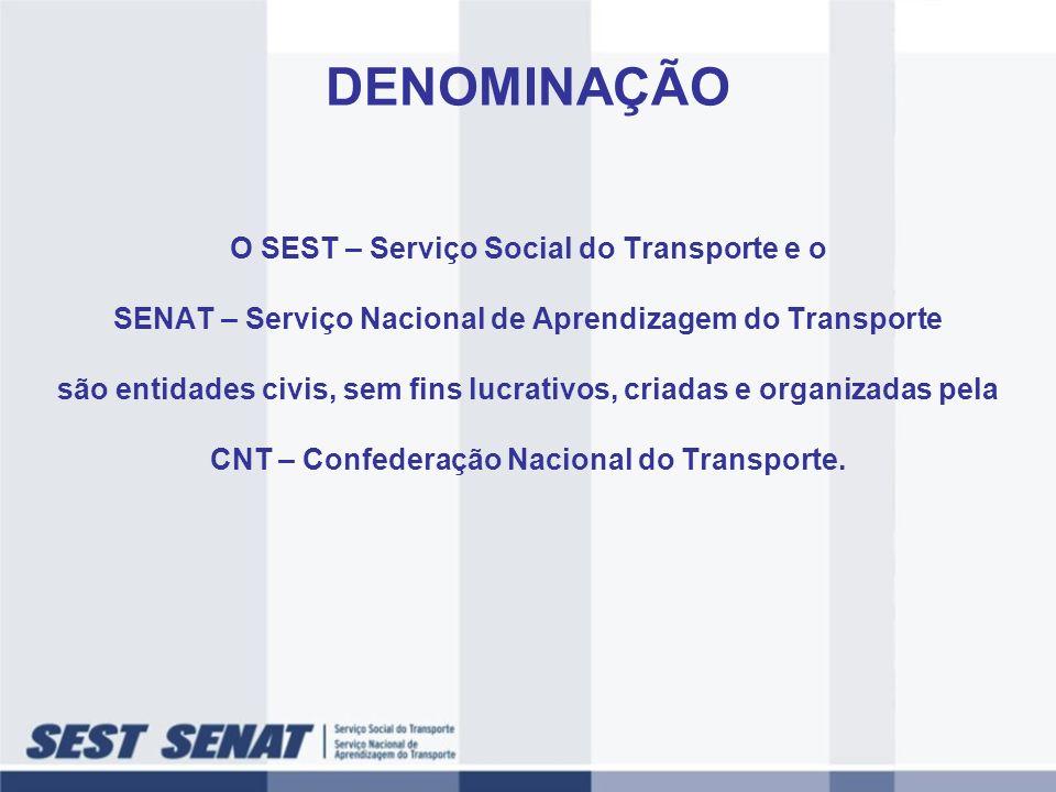 DENOMINAÇÃO O SEST – Serviço Social do Transporte e o