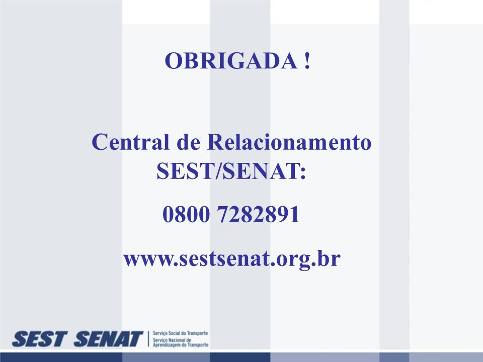 Central de Relacionamento SEST/SENAT: