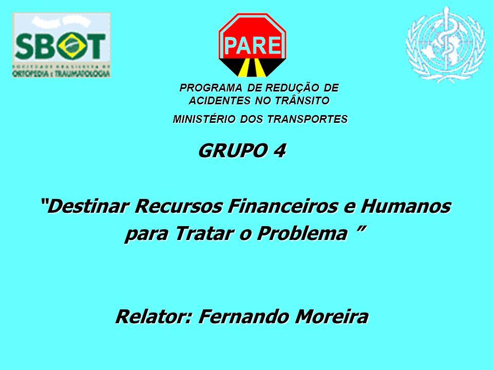 Destinar Recursos Financeiros e Humanos para Tratar o Problema
