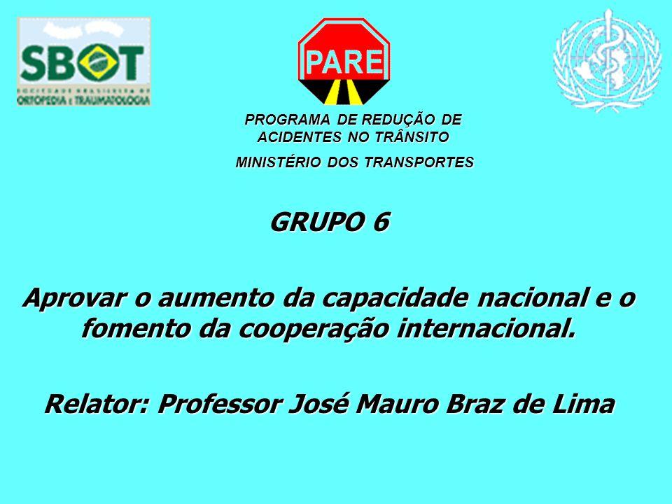 Relator: Professor José Mauro Braz de Lima