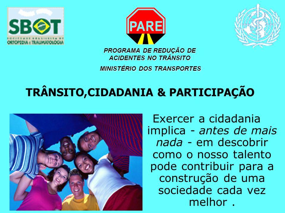 TRÂNSITO,CIDADANIA & PARTICIPAÇÃO