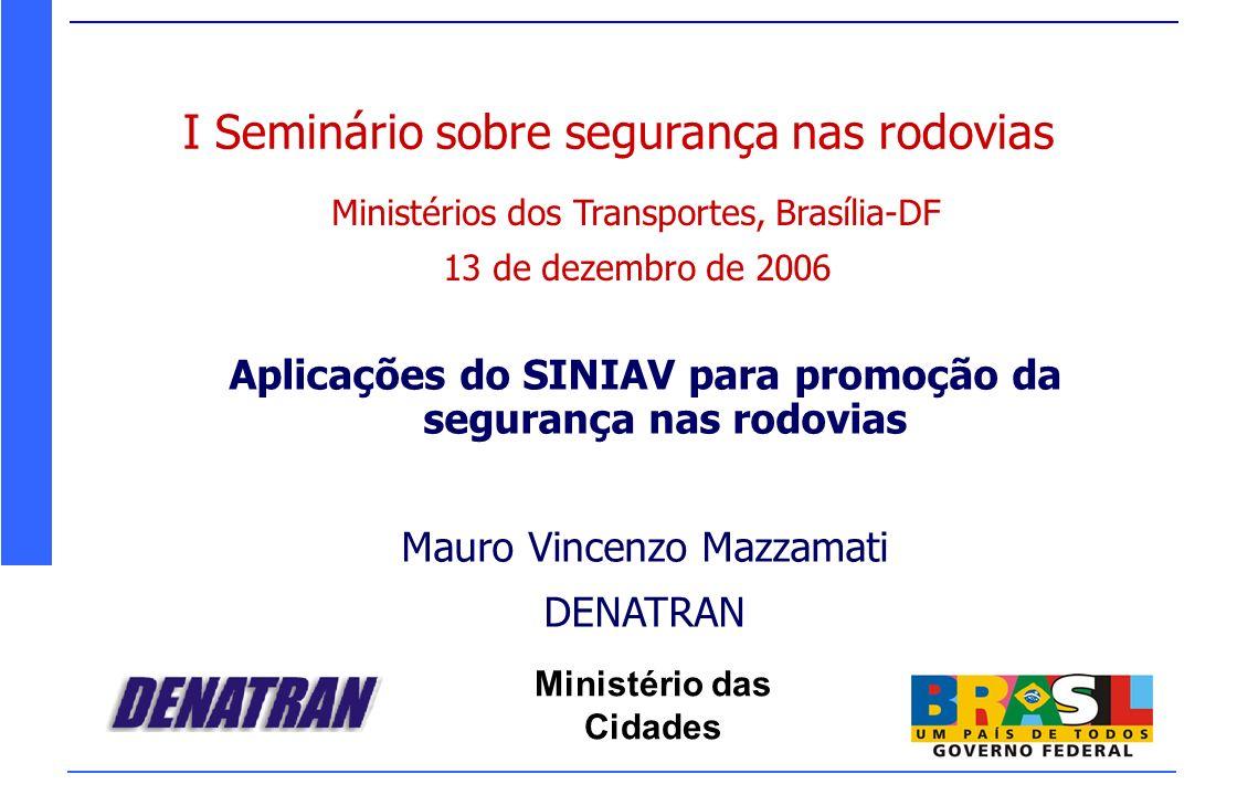 Aplicações do SINIAV para promoção da segurança nas rodovias