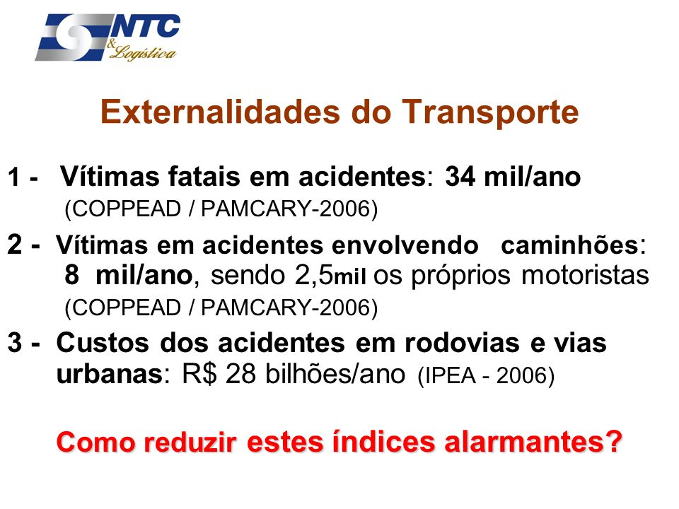 Externalidades do Transporte
