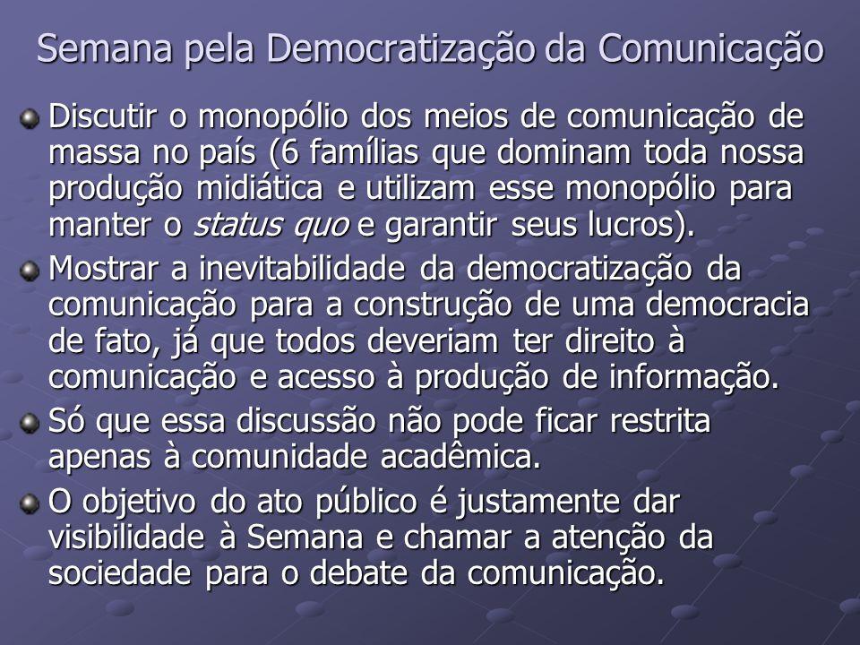 Semana pela Democratização da Comunicação