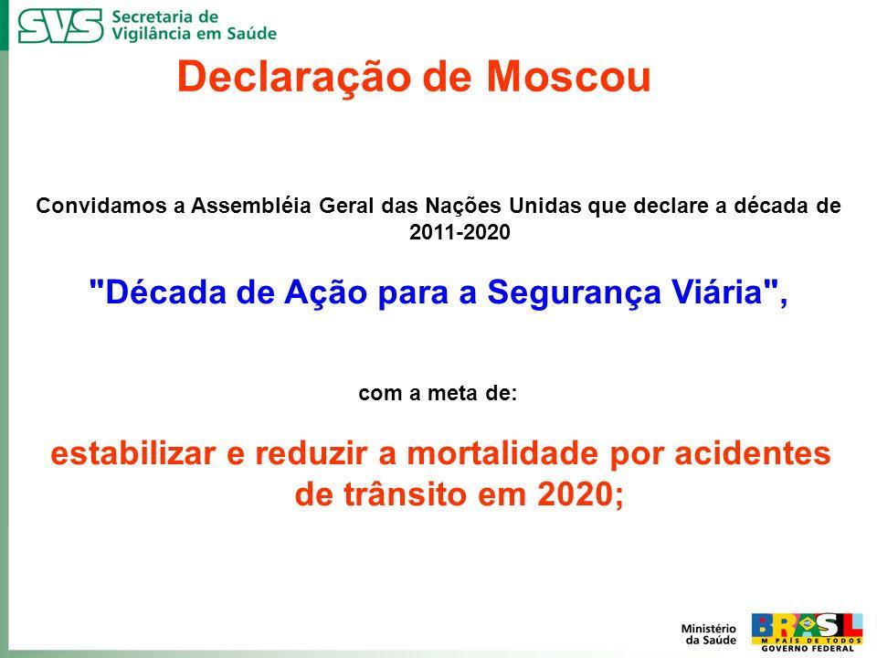 Declaração de Moscou Década de Ação para a Segurança Viária ,