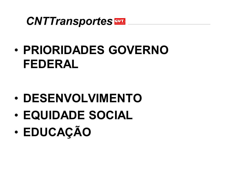 PRIORIDADES GOVERNO FEDERAL
