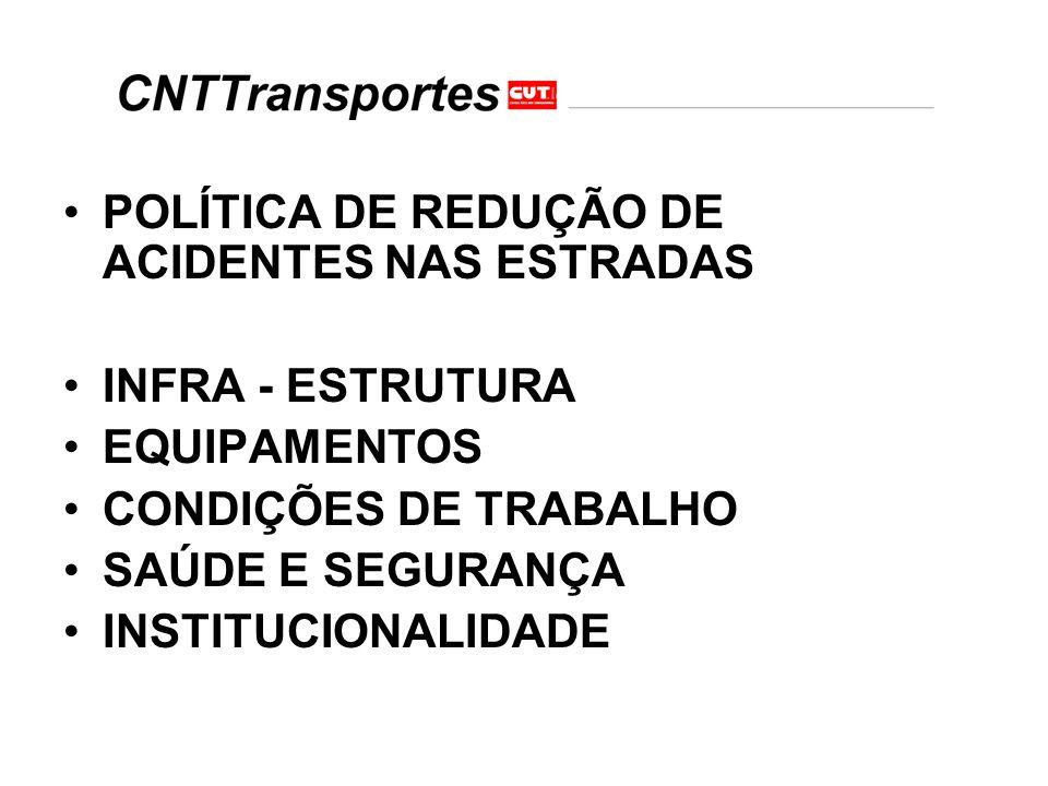 POLÍTICA DE REDUÇÃO DE ACIDENTES NAS ESTRADAS