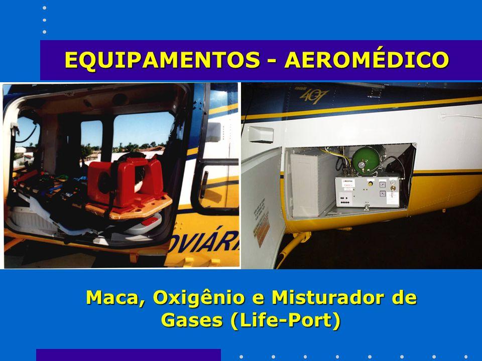 Maca, Oxigênio e Misturador de Gases (Life-Port)