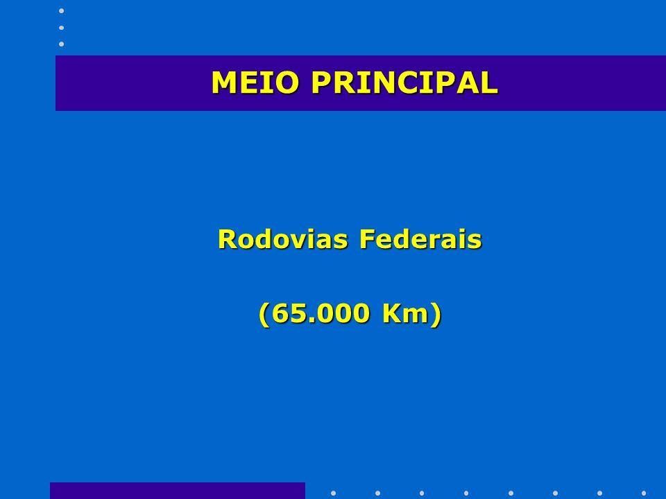 MEIO PRINCIPAL Rodovias Federais (65.000 Km)