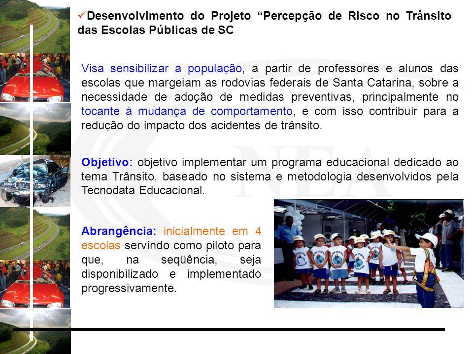 Desenvolvimento do Projeto Percepção de Risco no Trânsito das Escolas Públicas de SC