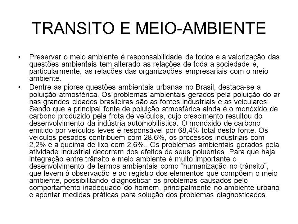 TRANSITO E MEIO-AMBIENTE