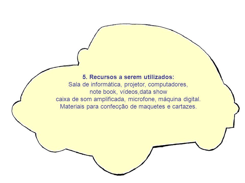5. Recursos a serem utilizados: