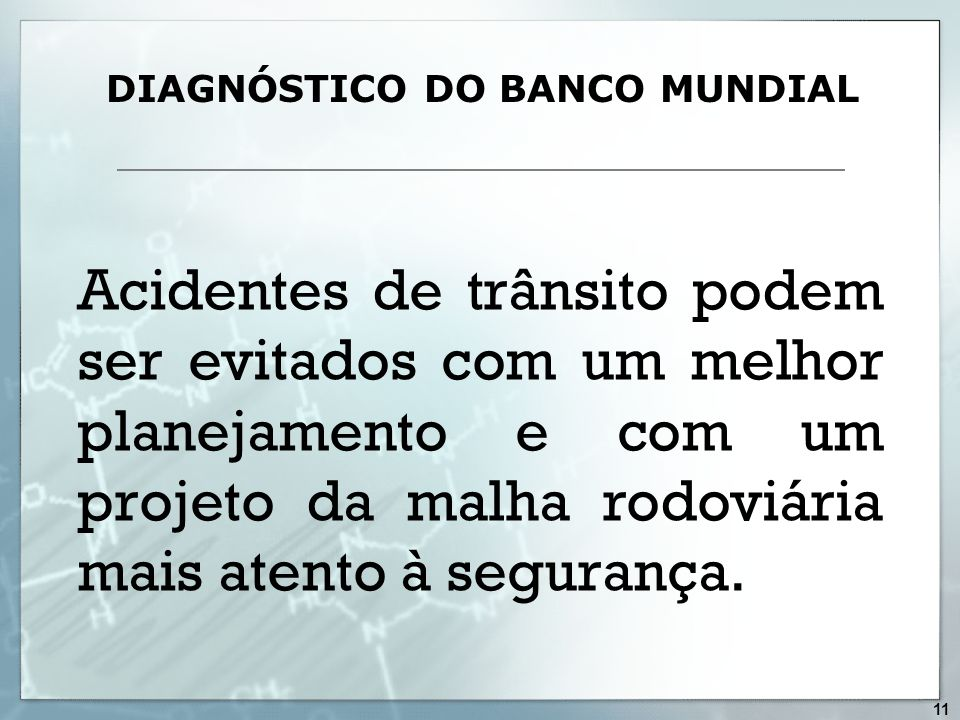 DIAGNÓSTICO DO BANCO MUNDIAL