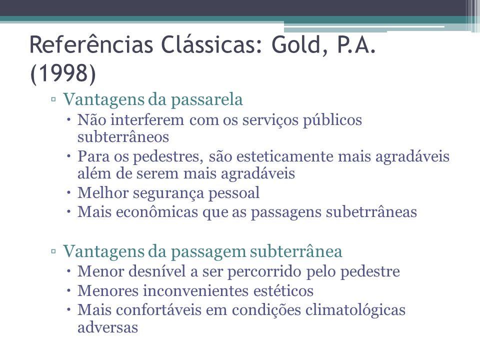 Referências Clássicas: Gold, P.A. (1998)
