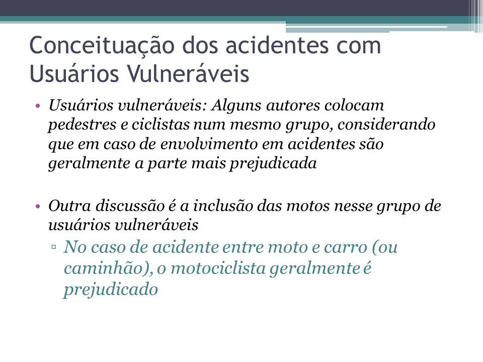 Conceituação dos acidentes com Usuários Vulneráveis