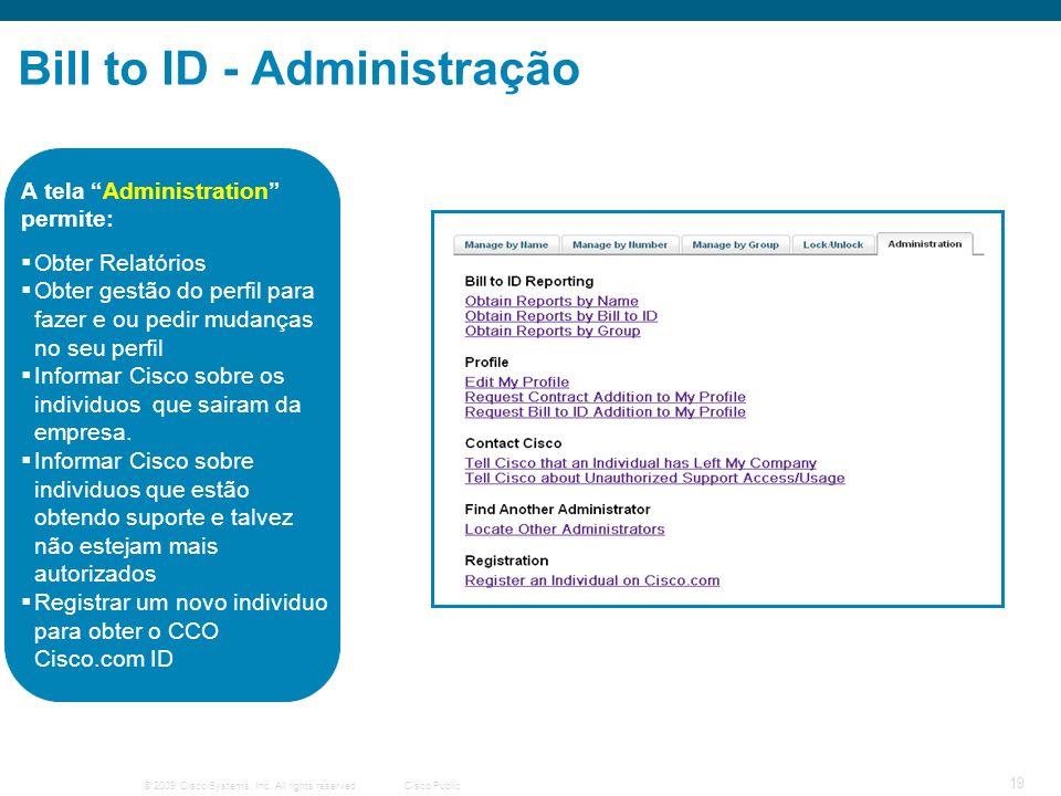 Bill to ID - Administração