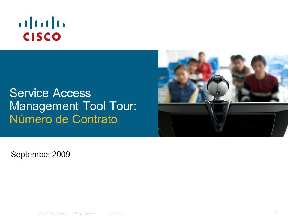 Service Access Management Tool Tour: Número de Contrato