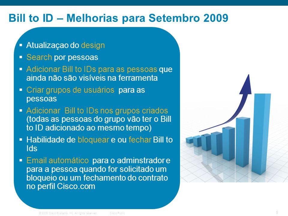 Bill to ID – Melhorias para Setembro 2009