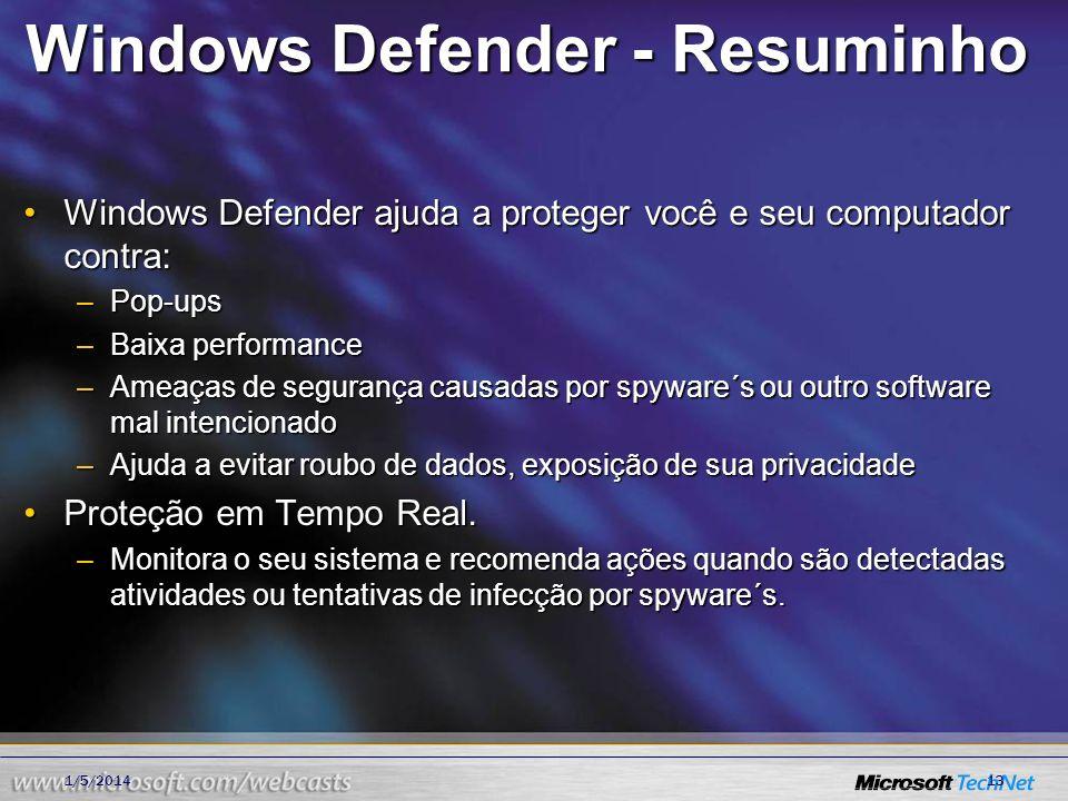 Windows Defender - Resuminho