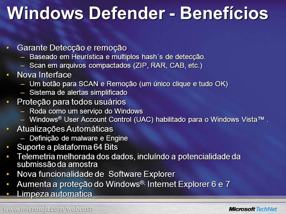 Windows Defender - Benefícios