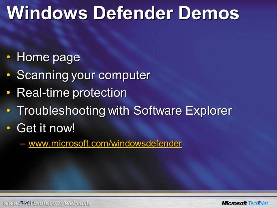Windows Defender Demos
