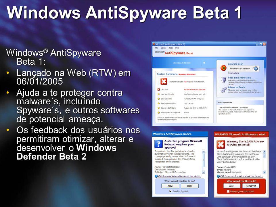 Windows AntiSpyware Beta 1