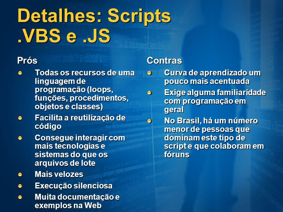 Detalhes: Scripts .VBS e .JS