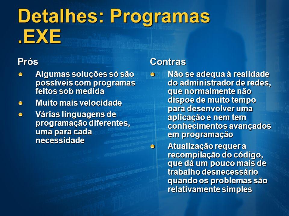 Detalhes: Programas .EXE