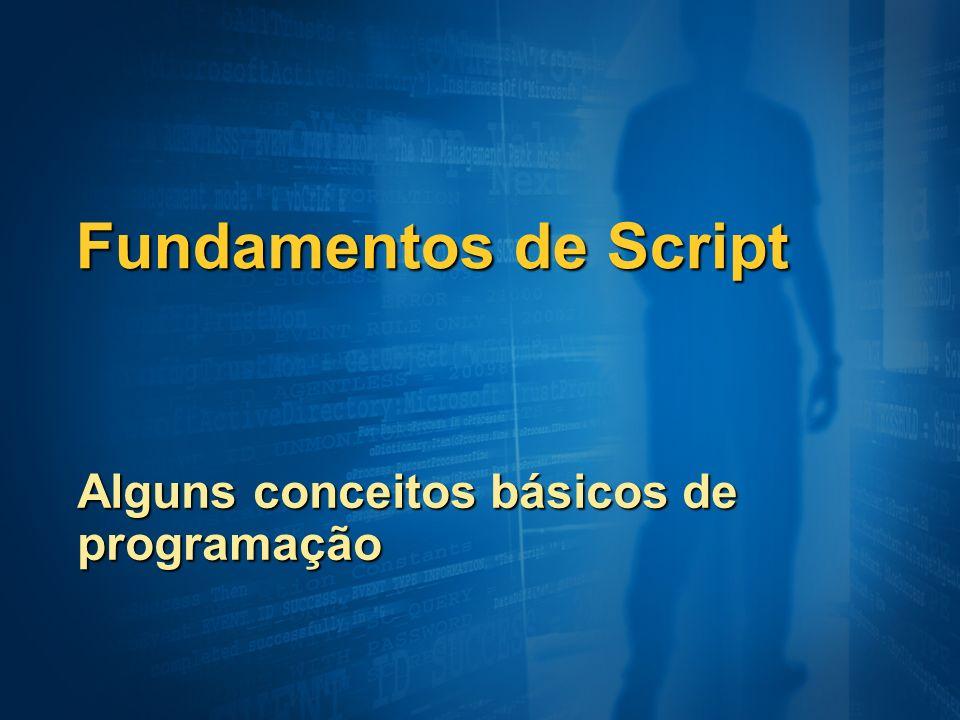 Alguns conceitos básicos de programação