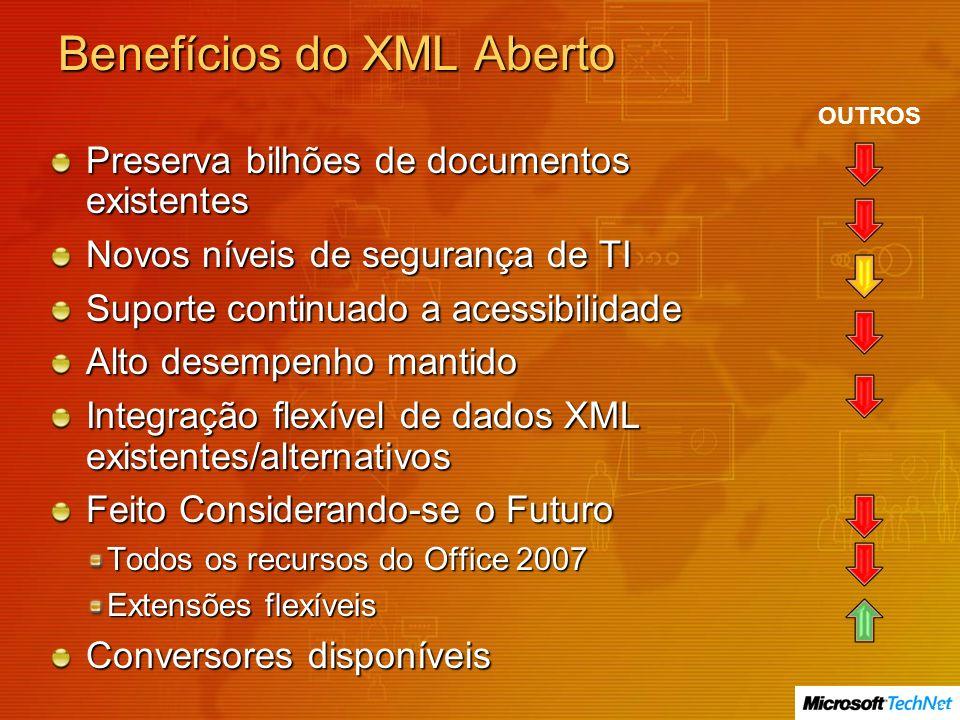 Benefícios do XML Aberto