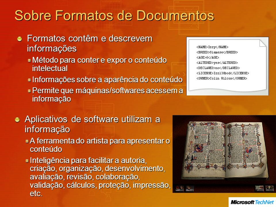 Sobre Formatos de Documentos