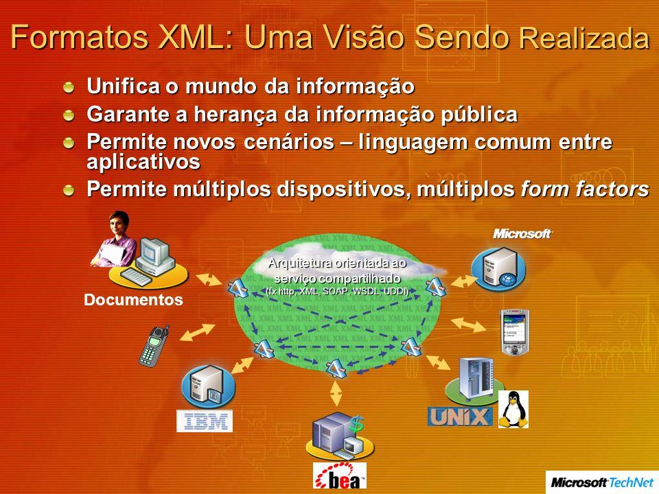 Formatos XML: Uma Visão Sendo Realizada