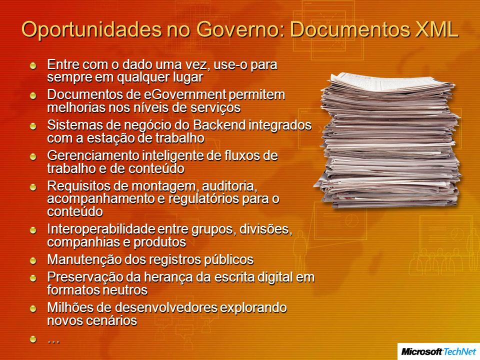 Oportunidades no Governo: Documentos XML