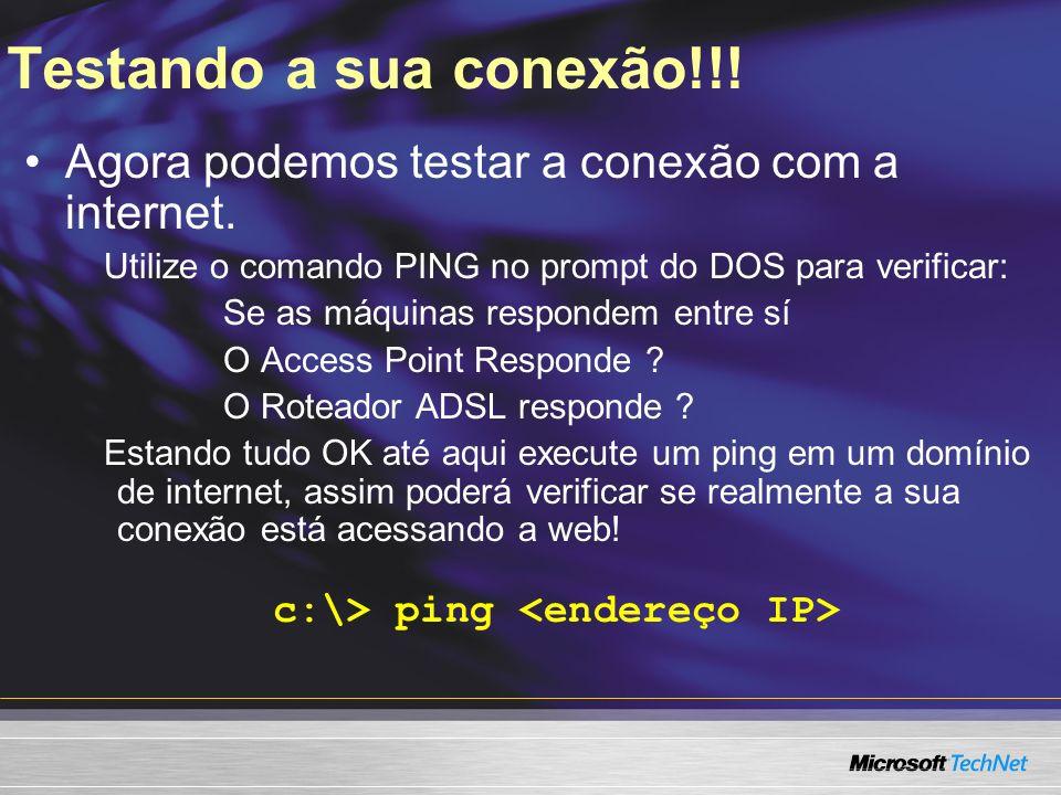 c:\> ping <endereço IP>