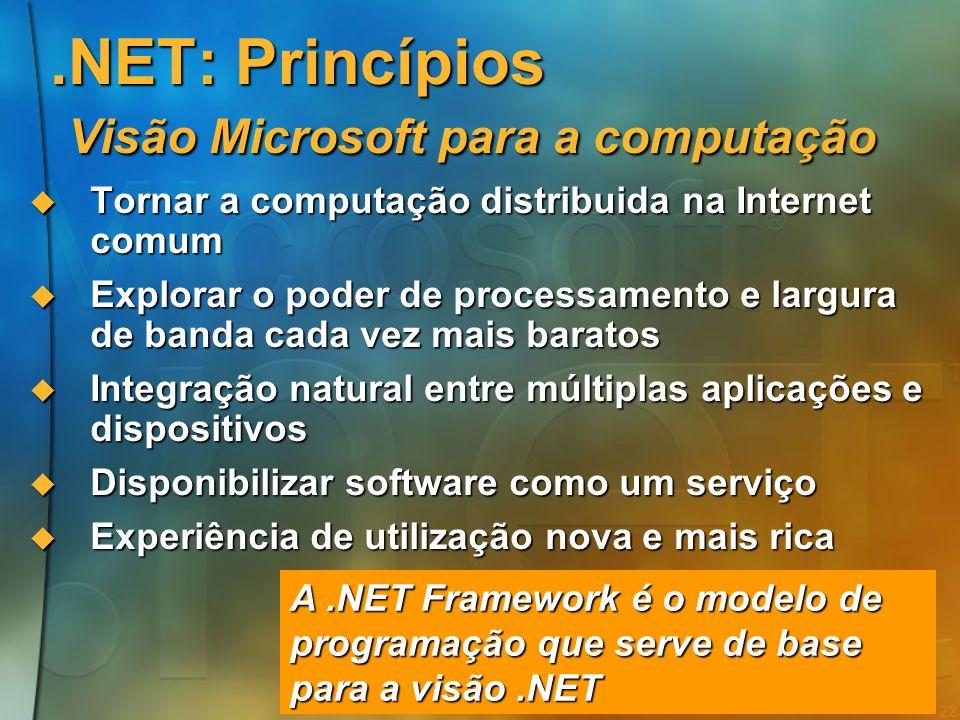 .NET: Princípios Visão Microsoft para a computação