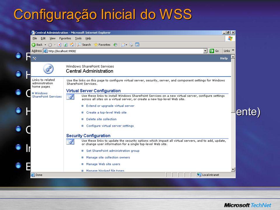 Configuração Inicial do WSS
