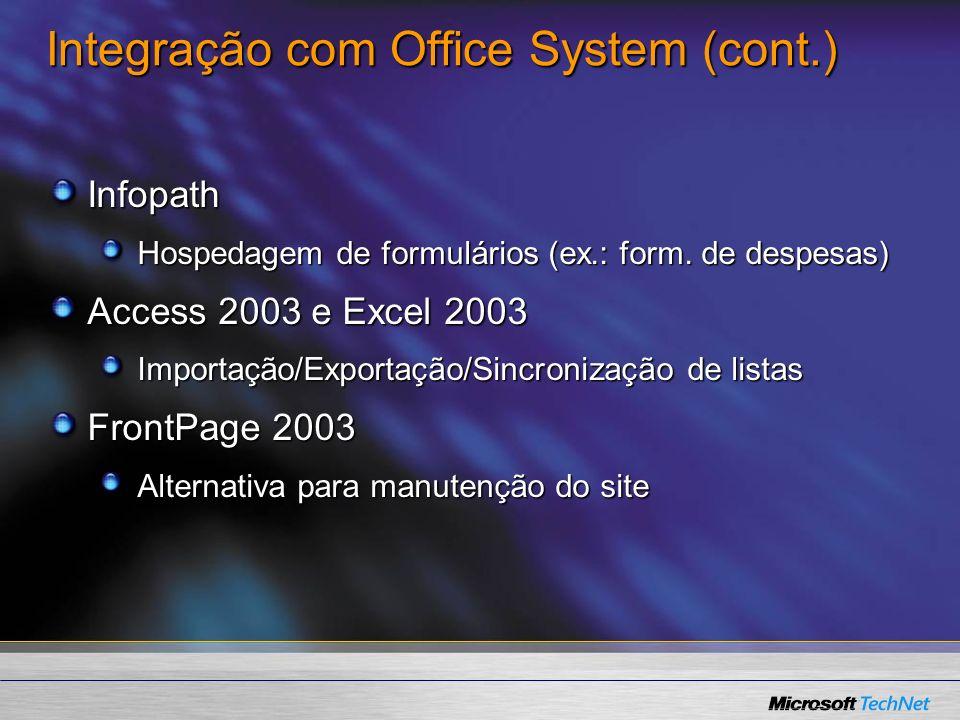 Integração com Office System (cont.)
