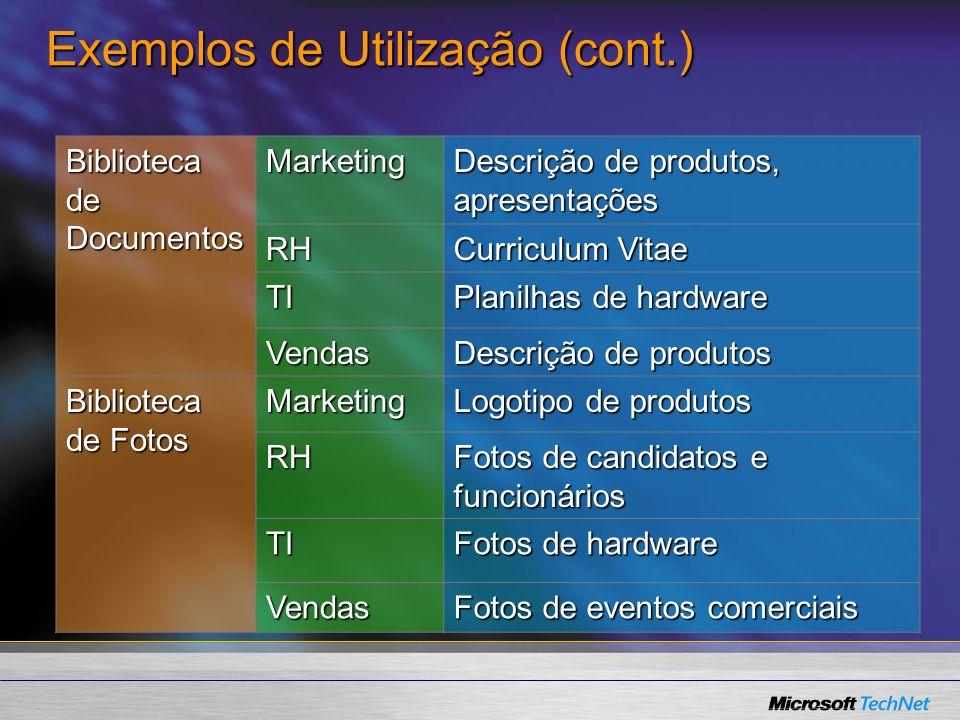 Exemplos de Utilização (cont.)
