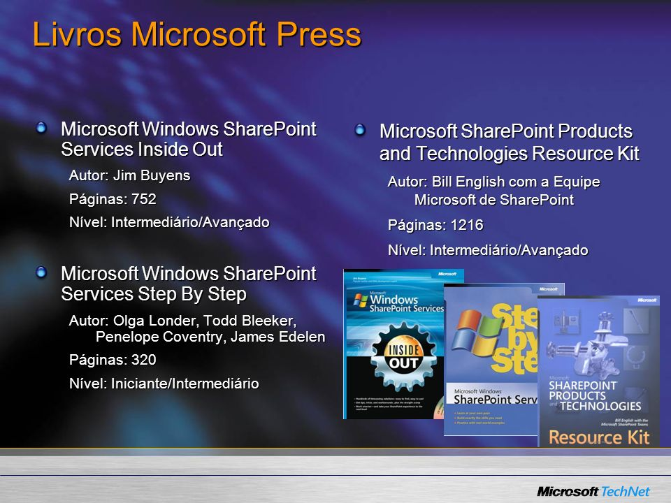 Livros Microsoft Press