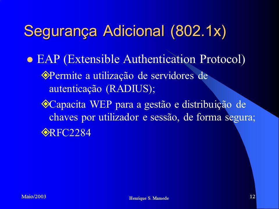 Segurança Adicional (802.1x)