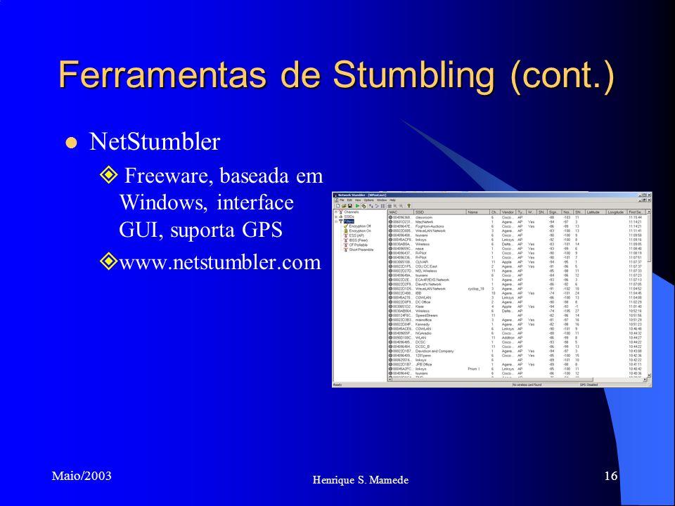 Ferramentas de Stumbling (cont.)