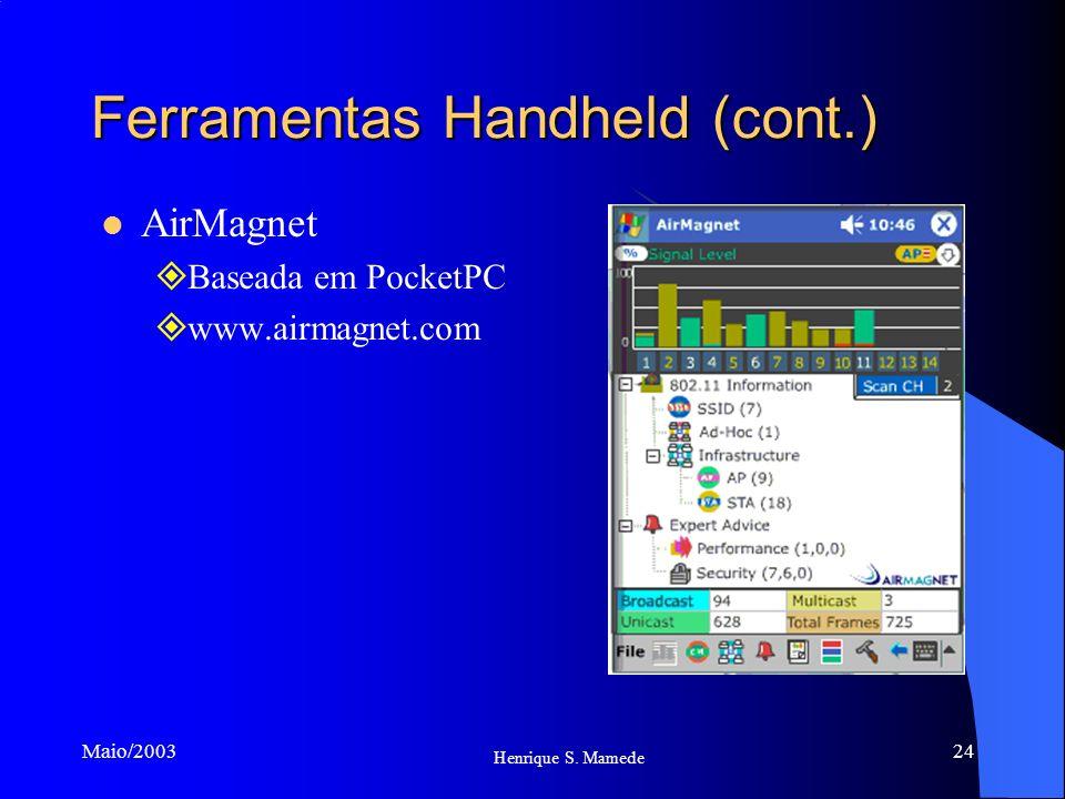 Ferramentas Handheld (cont.)