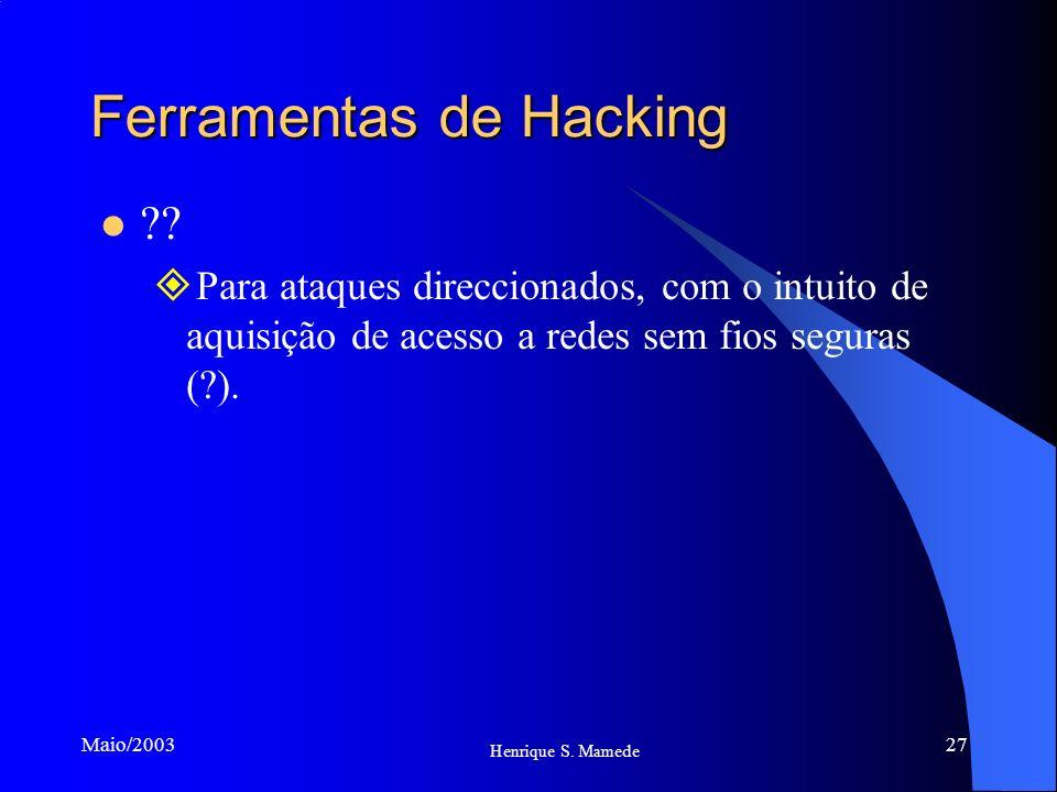 Ferramentas de Hacking